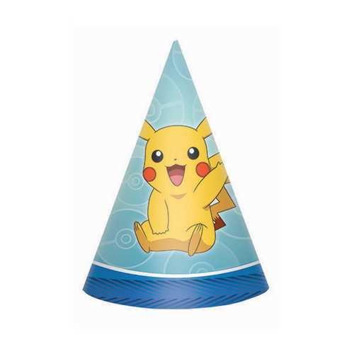 Pokemon Party Hats [8 Per Pack]