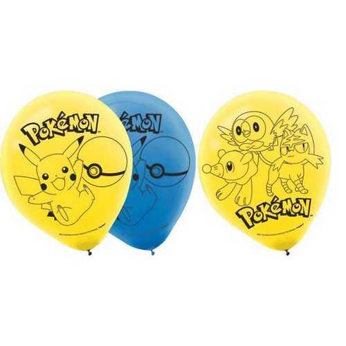 Pokemon Latex Balloons [6 pack]