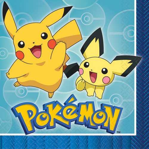 Pokemon Luncheon Napkins [16 Per Pack]