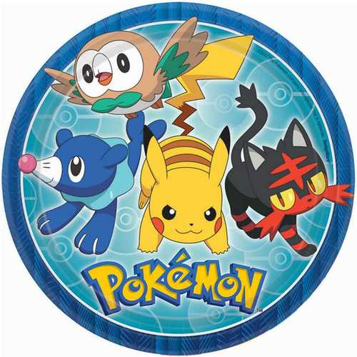 Pokemon Dinner Plates [8 Per Pack]