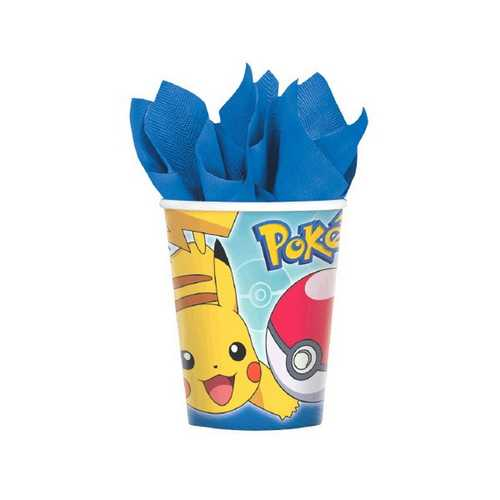 Pokemon 9 oz Cups [8 Per Pack]