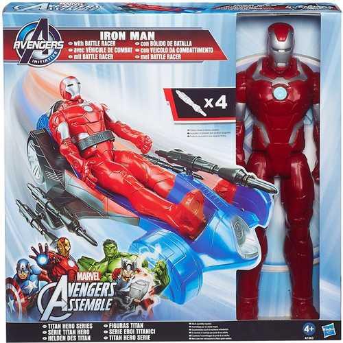 Iron Man Figure with Battle Racer Marvel Avengers Titan Hero Series