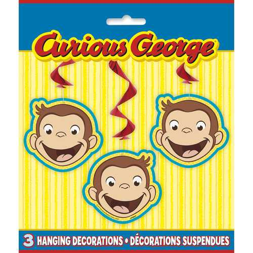 Curious George Hanging Swirl Decorations