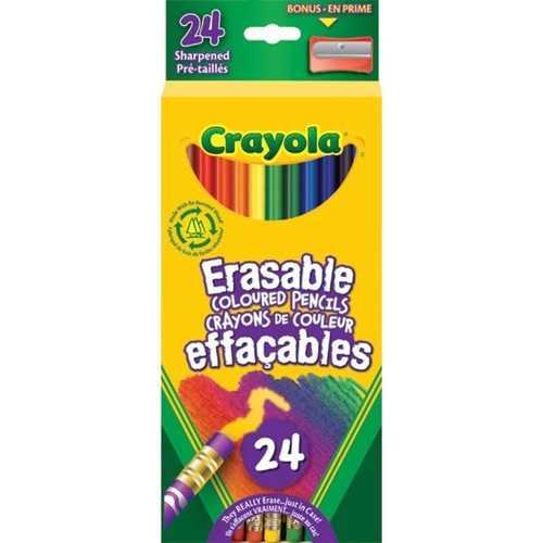 Crayola 24 Erasable Colored Pencils