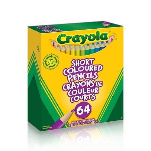 Crayola 64 Short Colored Pencils