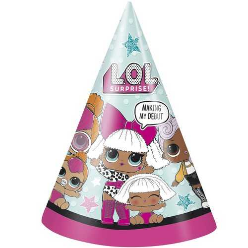 LOL Surprise! Paper Party Hats [8 Per Package]