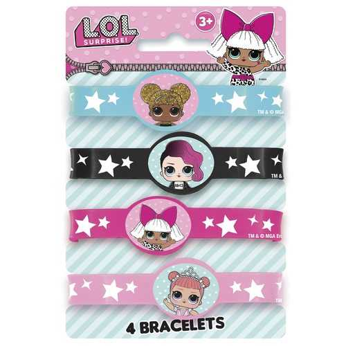 LOL Surprise! Stretchy Rubber Bracelets [4 Per Package]