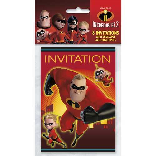 The Incredible 2 Movie Invitations [8 Per Package]