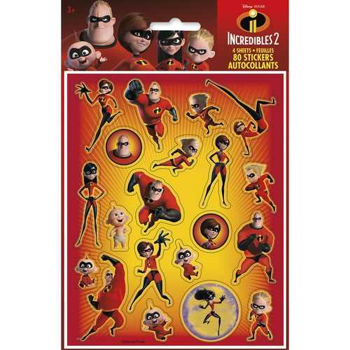 The Incredible 2 Movie Sticker Sheets [4 Per Package]