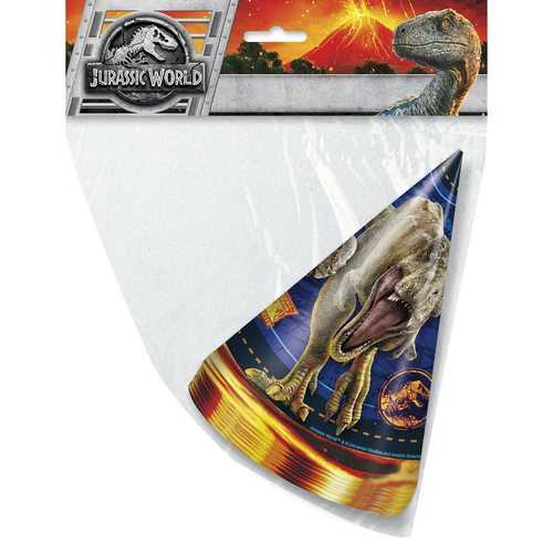 Jurassic World Party Hats [8 Per Package]