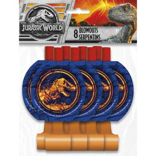 Jurassic World Party Blowouts [8 Per Package]
