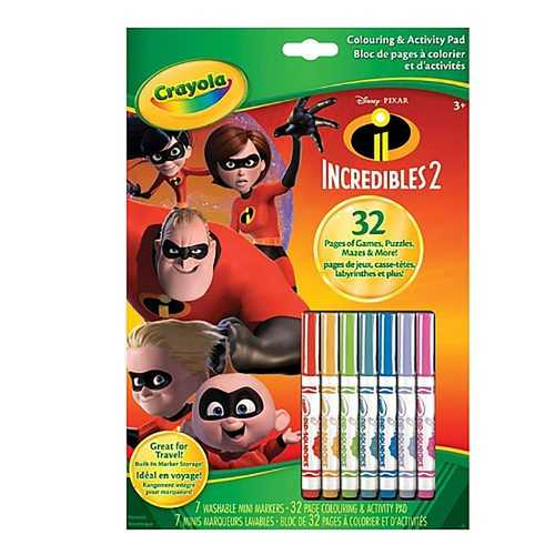 Crayola - Colouring & Activity Pad The Incredibles 2