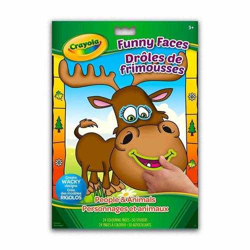 Crayola Funny Faces Colouring and Sticker Book Animals and People