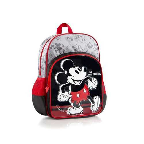 Disney Mickey Mouse Deluxe Backpack - Red and Black