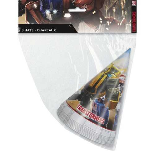 Transformers Paper Party Hats - (8 Per Package)