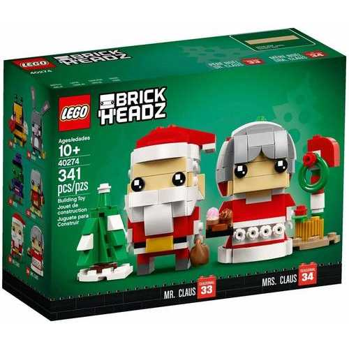 LEGO Brick Headz Mr. & Mrs. Claus (40274) 341pcs.