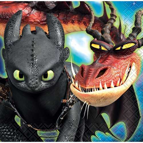How to Train Your Dragon: The Hidden World - Beverage Napkins [16 per Package]