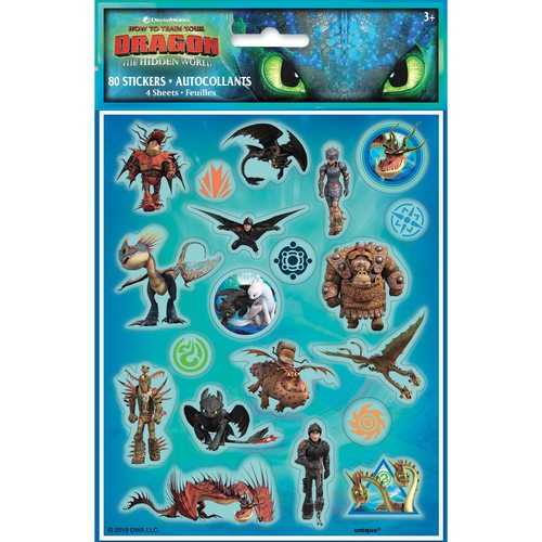 How to Train Your Dragon: The Hidden World - Sticker Sheets [4 per Package]