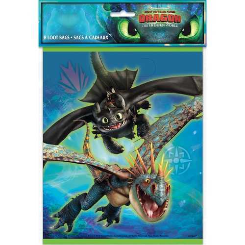 How to Train Your Dragon: The Hidden World - Loot Bags [8 per Package]