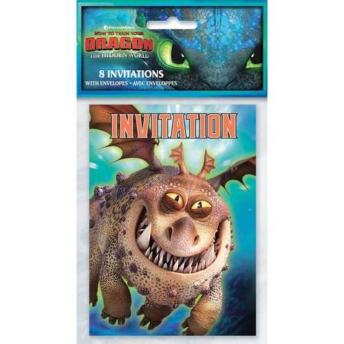 How to Train Your Dragon: The Hidden World - Party Invitations [8 per Package]