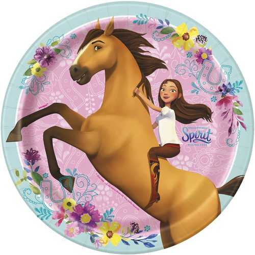 Spirit Riding Free 9 Inch Plates [8 Per Package]