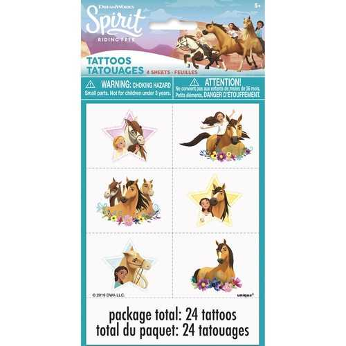 Spirit Riding Free Temporary Tattoo Sheets [4 per Pack]
