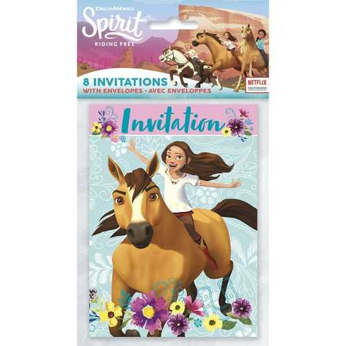 Spirit Riding Free Party Invitations [8 Per pack]