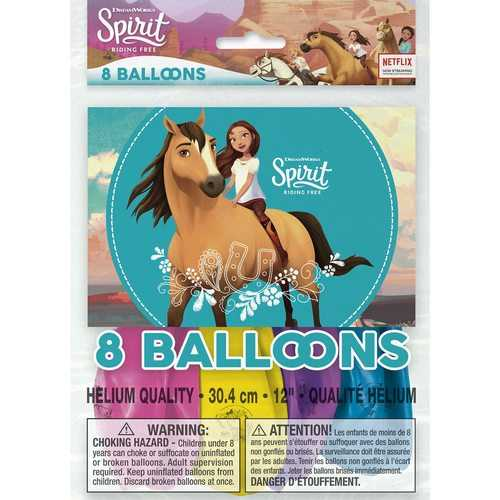Spirit Riding Free 12 Inch Latex Balloons [8 Per pack]