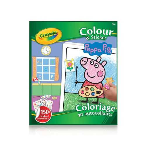 Crayola - Color & Sticker Book Peppa Pig