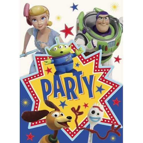 Disney Toy Story 4 Movie Invitations (8 Per Package)