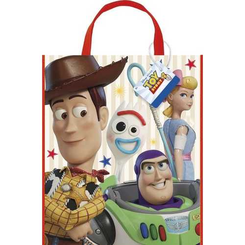 Disney Toy Story 4 Movie Plastic Tote Bag for Party Favor - 13 x 11 Inches - 1 Unit