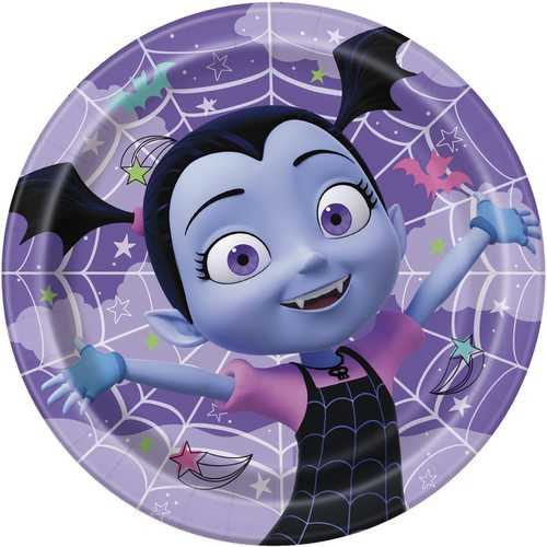Disney Vampirina 9 Inch Luncheon Plates (Includes 8 Per Package)