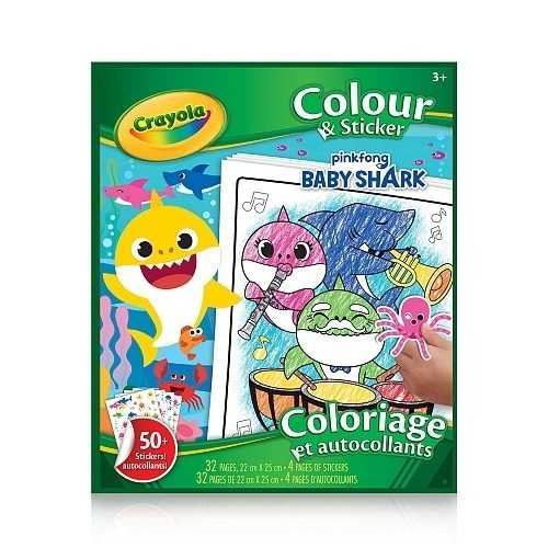 Baby Shark Colour & Sticker Book by Crayola