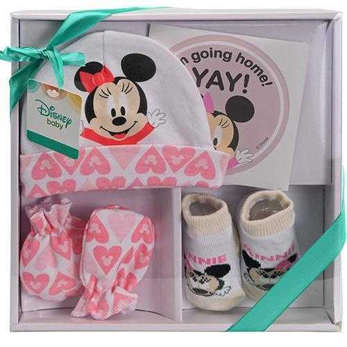 Minnie Mouse 4-Piece Baby Gift Set - Pink
