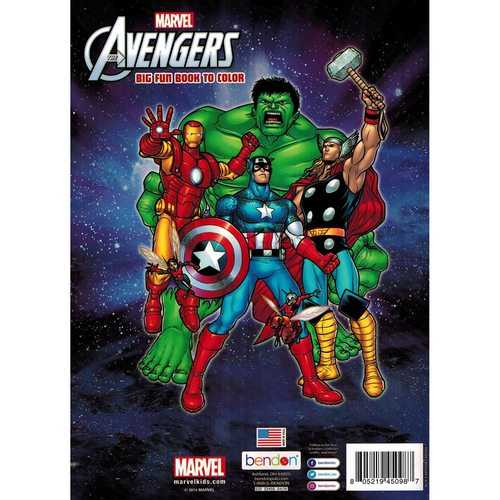 Marvel Avengers Big Fun Book to Color - 80 Pages