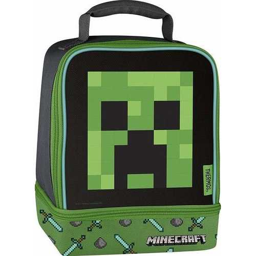 Thermos Licensed Dual Lunch Bag Kit Minecraft - Creeper
