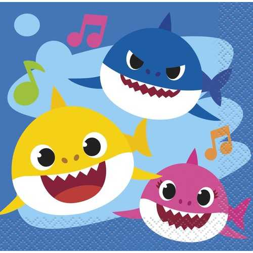 Baby Shark Beverage Napkins [16 per Pack]