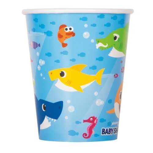 Baby Shark 9 oz Paper Cups [8 Per Package]