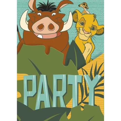 The Lion King Birthday Party Invitations [8 Per Package]