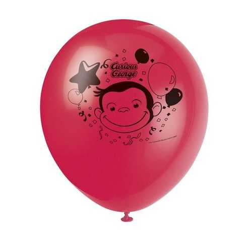 Curious George Latex Helium Balloons [8 Per Pack]