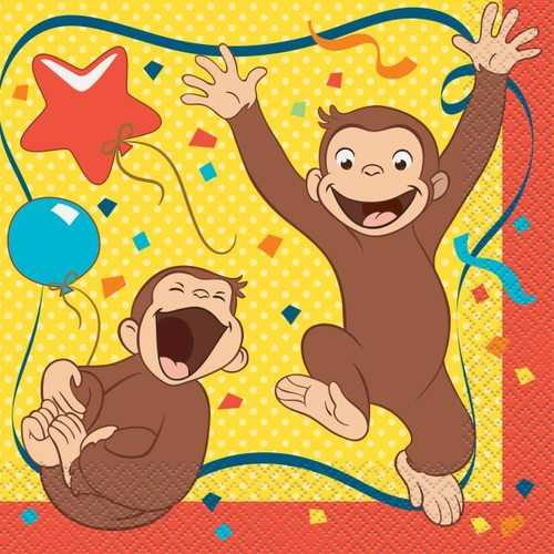 Curious George Party Luncheon Napkins [16 per Pack]