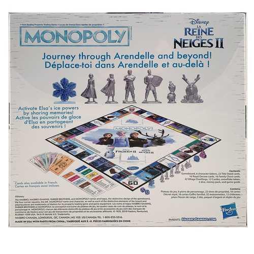 Disney Frozen II Monopoly (Bilingual - English/French)