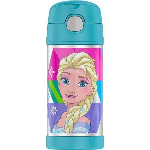 Disney Frozen Thermos Funtainer 12 Ounce Bottle - Aqua (Design may vary)