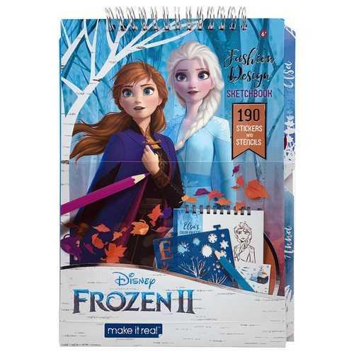 Disney Frozen II Fashion Design Sketchbook - 190 Stickers and Stencils