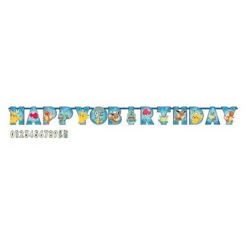 Pokemon Party Jumbo Add-An-Age Letter Party Banner