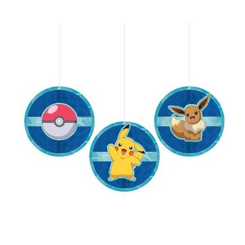 Pokemon Party Hanging Honeycomb Decorations [3 per Package]