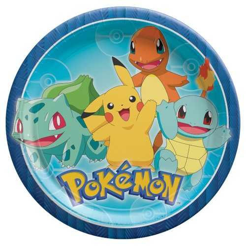 "Pokemon Party 9"" Dinner Plates [8 Per Pack]"