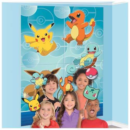 Pokemon Party Scene Setters Wall Decorating Kit with Props