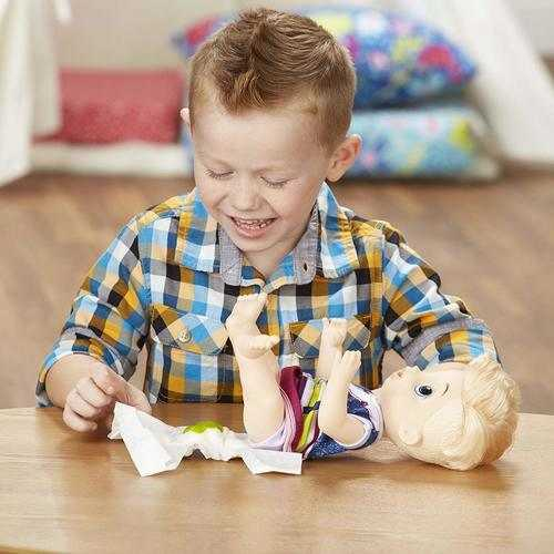 BABY ALIVE Sweet Spoonfuls Baby Doll Boy - Blonde Hair