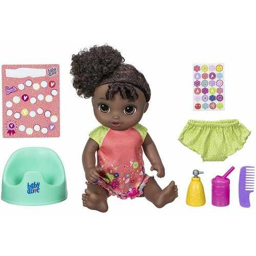 Baby Alive Potty Dance Baby - African American - Black Curly Hair